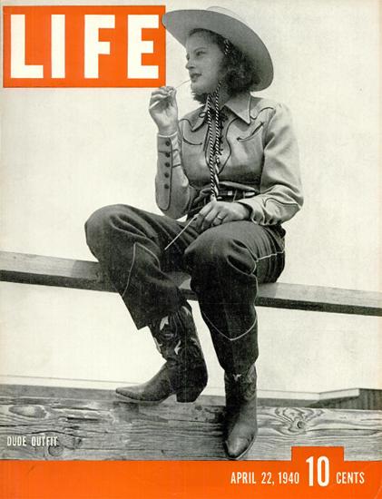 Dude Outfit 22 Apr 1940 Copyright Life Magazine | Life Magazine BW Photo Covers 1936-1970
