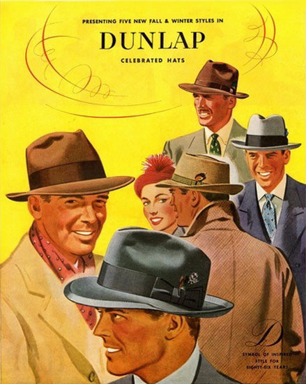 Dunlap Celebrated Hats New York | Sex Appeal Vintage Ads and Covers 1891-1970