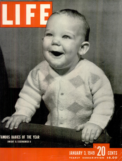 Dwight D Eisenhower II 3 Jan 1949 Copyright Life Magazine | Life Magazine BW Photo Covers 1936-1970