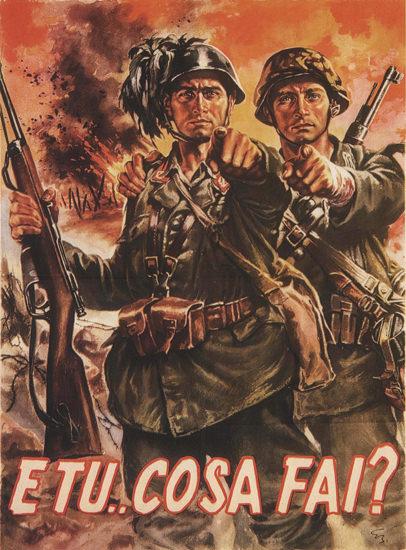 E tu Cosa Fai Italy Italia | Vintage War Propaganda Posters 1891-1970