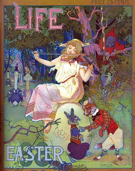 EASTER Life Humor Magazine 1898-04-02 Copyright   Life Magazine Graphic Art Covers 1891-1936