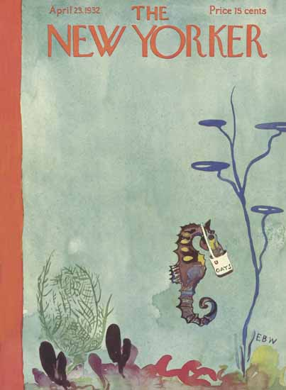 EB White The New Yorker 1932_04_23 Copyright | The New Yorker Graphic Art Covers 1925-1945