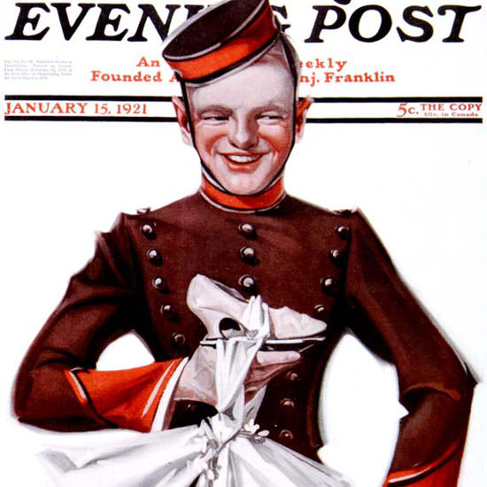 EM Jackson Cover Artist Saturday Evening Post 1921_01_15 Copyright crop | Best of 1920s Ad and Cover Art
