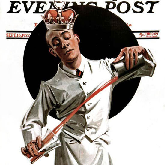 EM Jackson Saturday Evening Post Bartender 1922_09_16 Copyright crop | Best of Vintage Cover Art 1900-1970