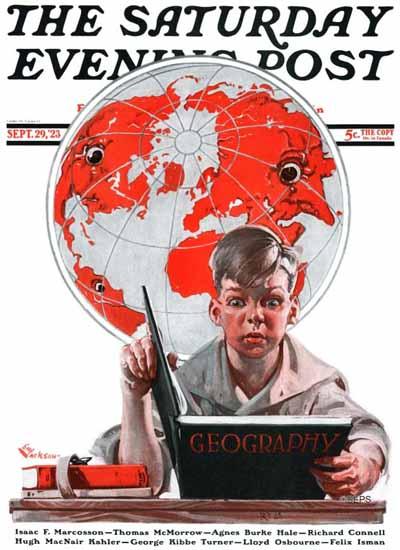EM Jackson Saturday Evening Post Geography 1923_09_29   The Saturday Evening Post Graphic Art Covers 1892-1930