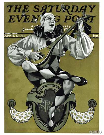 EM Jackson Saturday Evening Post Harlequin 1931_04_04   The Saturday Evening Post Graphic Art Covers 1931-1969