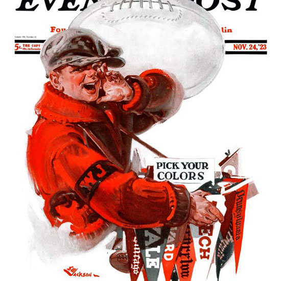 EM Jackson Saturday Evening Post Pick Colors 1923_11_24 Copyright crop | Best of 1920s Ad and Cover Art