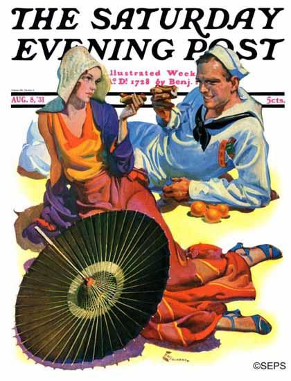EM Jackson Saturday Evening Post Shore Leave 1931_08_08 | The Saturday Evening Post Graphic Art Covers 1931-1969