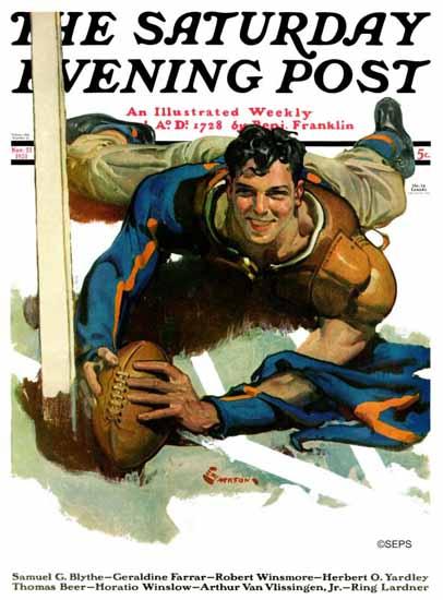 EM Jackson Saturday Evening Post Touchdown 1931_11_21 | The Saturday Evening Post Graphic Art Covers 1931-1969
