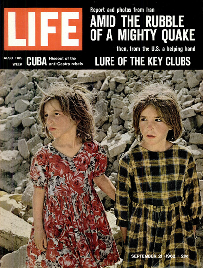 Earthquake in Iran Amid the Ruins 21 Sep 1962 Copyright Life Magazine | Life Magazine Color Photo Covers 1937-1970