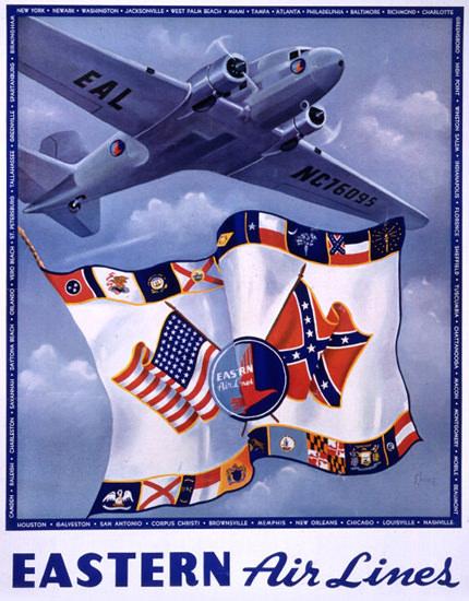 Eastern Air Lines 1938 | Vintage Travel Posters 1891-1970