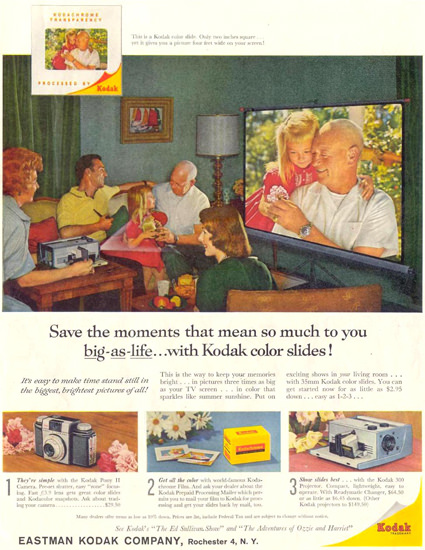 Eastman Kodak Color Slides 1959 | Vintage Ad and Cover Art 1891-1970
