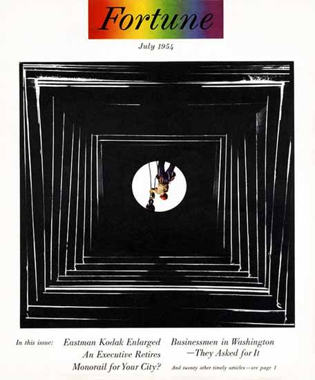 Eastman Kodak Enlarged Fortune Magazine July 1954 Copyright   Fortune Magazine Graphic Art Covers 1930-1959