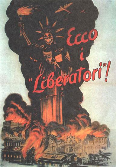 Ecco I Liberatori The Liberators Italy Italia | Vintage War Propaganda Posters 1891-1970