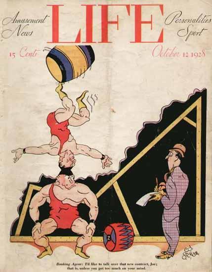 Ed Graham Life Humor Magazine 1928-10-12 Copyright | Life Magazine Graphic Art Covers 1891-1936