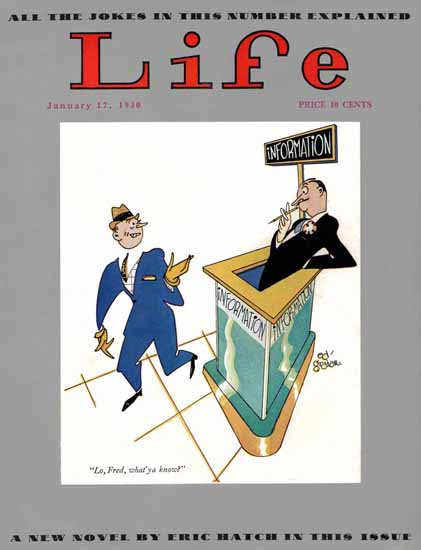 Ed Graham Life Humor Magazine 1930-01-17 Copyright | Life Magazine Graphic Art Covers 1891-1936
