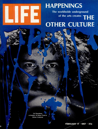Ed Sanders NY Other Culture Art 17 Feb 1967 Copyright Life Magazine | Life Magazine Color Photo Covers 1937-1970