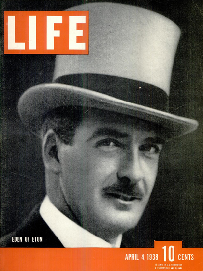 Eden of Eton 4 Apr 1938 Copyright Life Magazine | Life Magazine BW Photo Covers 1936-1970