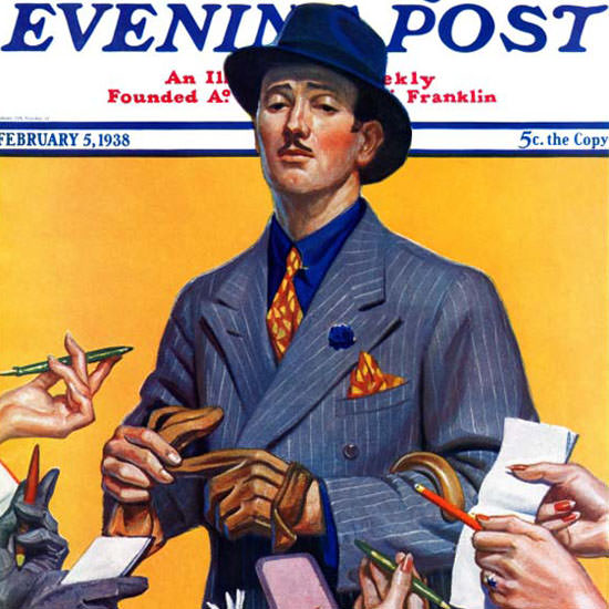 Edgar Franklin Wittmack Saturday Eve Post 1938_02_05 Copyright crop | Best of Vintage Cover Art 1900-1970