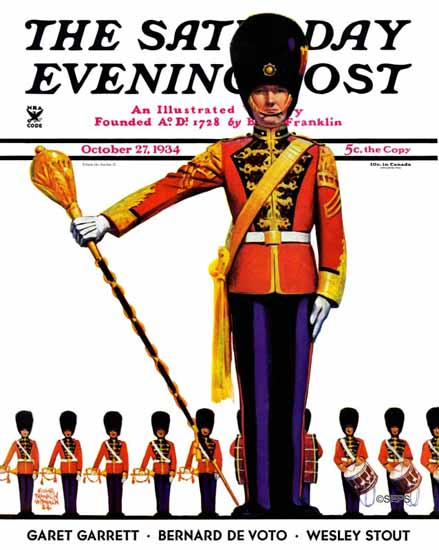 Edgar Franklin Wittmack Saturday Evening Post Drum Major 1934_10_27   The Saturday Evening Post Graphic Art Covers 1931-1969