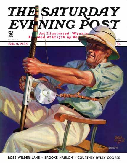Edgar Franklin Wittmack Saturday Evening Post Fisherman 1935_02_02   The Saturday Evening Post Graphic Art Covers 1931-1969