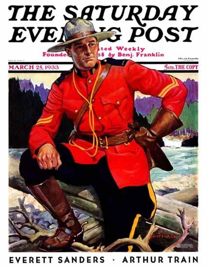 Edgar Franklin Wittmack Saturday Evening Post Mountie 1933_03_25   The Saturday Evening Post Graphic Art Covers 1931-1969