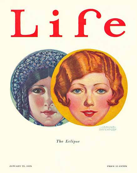 Edmund Davenport Life Humor Magazine 1925-01-22 Copyright | Life Magazine Graphic Art Covers 1891-1936