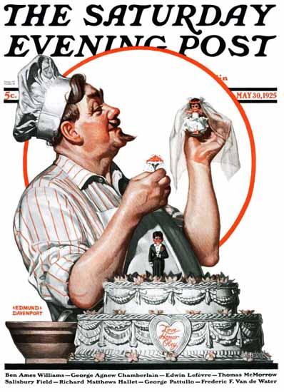 Edmund Davenport Saturday Evening Post Cover Art 1925_05_30 | The Saturday Evening Post Graphic Art Covers 1892-1930