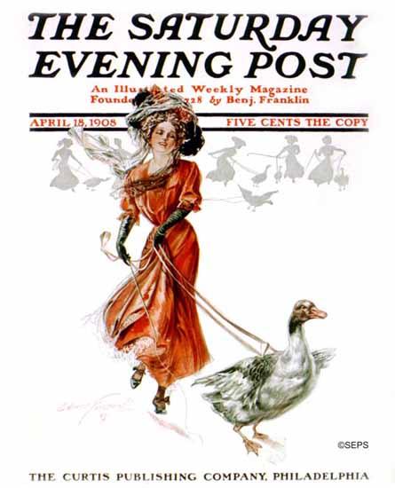 Edmund Frederick Saturday Evening Post Cover 1908_04_18 | The Saturday Evening Post Graphic Art Covers 1892-1930