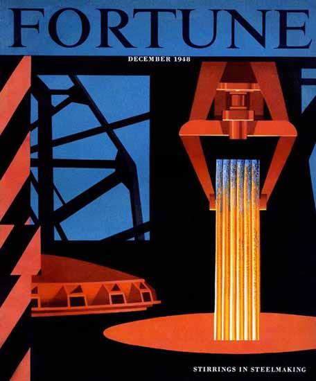 Edmund Lewandowski Fortune Magazine December 1948 Copyright | Fortune Magazine Graphic Art Covers 1930-1959