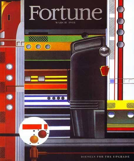Edmund Lewandowski Fortune Magazine March 1948 Copyright | Fortune Magazine Graphic Art Covers 1930-1959