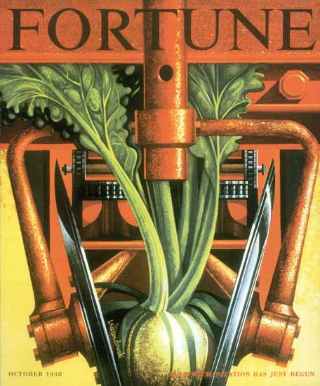 Edmund Lewandowski Fortune Magazine October 1948 Copyright   Fortune Magazine Graphic Art Covers 1930-1959