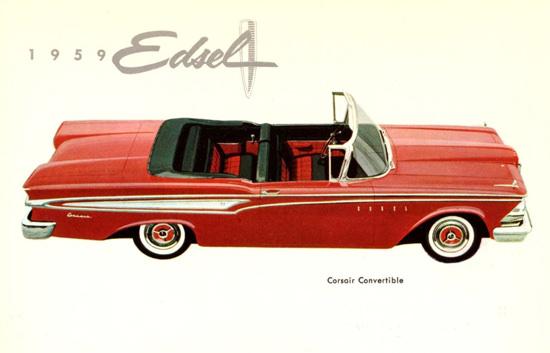 Edsel Corsair Convertible 1959 | Vintage Cars 1891-1970