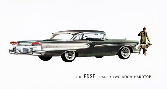 Edsel Pacer Hardtop 1958 Afghan Hound | Vintage Cars 1891-1970