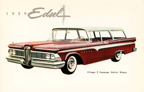 Edsel Villager 9 Passenger Station Wagon 1959 | Vintage Cars 1891-1970