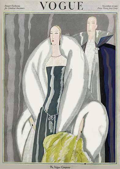 Eduardo Garcia Benito Vogue Cover 1921-11-15 Copyright | Vogue Magazine Graphic Art Covers 1902-1958