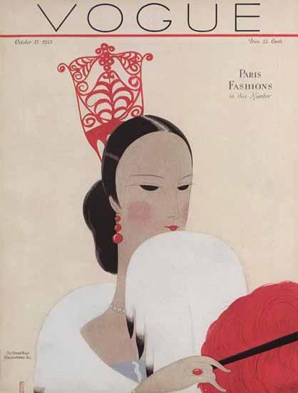 Eduardo Garcia Benito Vogue Cover 1923-10-15 Copyright | Vogue Magazine Graphic Art Covers 1902-1958