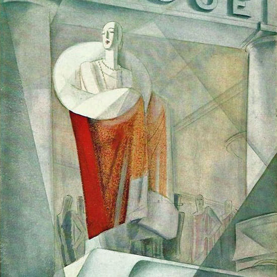 Eduardo Garcia Benito Vogue Cover 1924-12-15 Copyright crop | Best of 1920s Ad and Cover Art