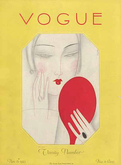 Eduardo Garcia Benito Vogue Cover 1925-11-15 Copyright Sex Appeal | Sex Appeal Vintage Ads and Covers 1891-1970