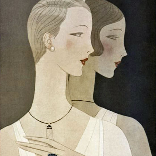 Eduardo Garcia Benito Vogue Cover 1926-04-01 Copyright crop | Best of 1920s Ad and Cover Art