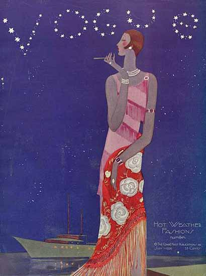 Eduardo Garcia Benito Vogue Cover 1926-07-01 Copyright | Vogue Magazine Graphic Art Covers 1902-1958