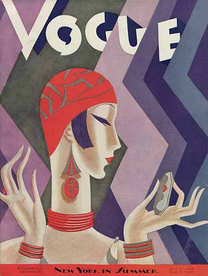 Eduardo Garcia Benito Vogue Cover 1926-07-15 Copyright Sex Appeal   Sex Appeal Vintage Ads and Covers 1891-1970