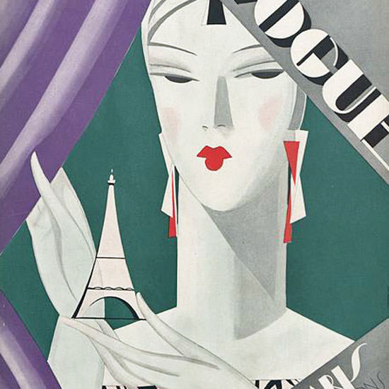 Eduardo Garcia Benito Vogue Cover 1926-10-15 Copyright crop | Best of 1920s Ad and Cover Art
