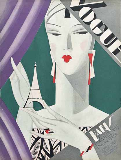 Eduardo Garcia Benito Vogue Cover 1926-10-15 Copyright | Vogue Magazine Graphic Art Covers 1902-1958
