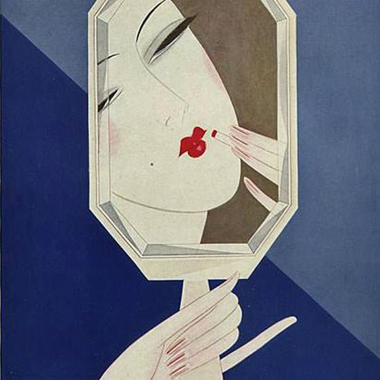 Eduardo Garcia Benito Vogue Cover 1926-11-15 Copyright crop | Best of 1920s Ad and Cover Art