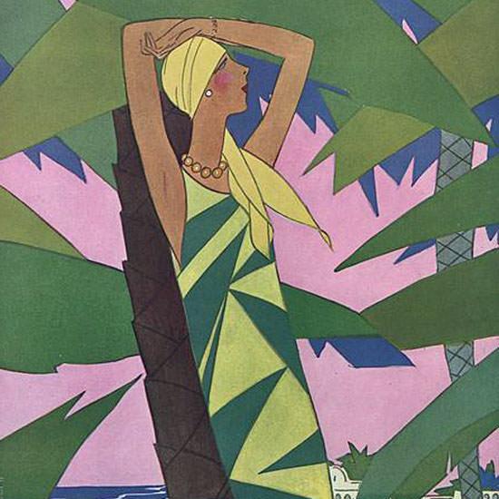 Eduardo Garcia Benito Vogue Cover 1927-01-15 Copyright crop | Best of 1920s Ad and Cover Art