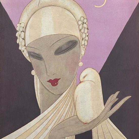 Eduardo Garcia Benito Vogue Cover 1927-04-01 Copyright crop | Best of 1920s Ad and Cover Art