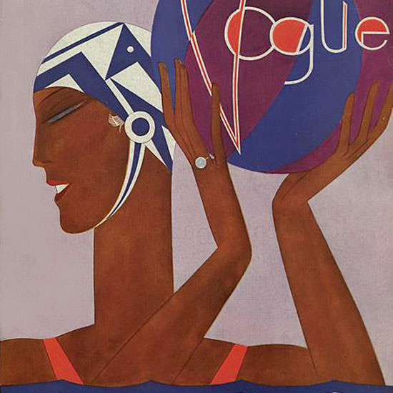 Eduardo Garcia Benito Vogue Cover 1927-06-15 Copyright crop | Best of Vintage Cover Art 1900-1970