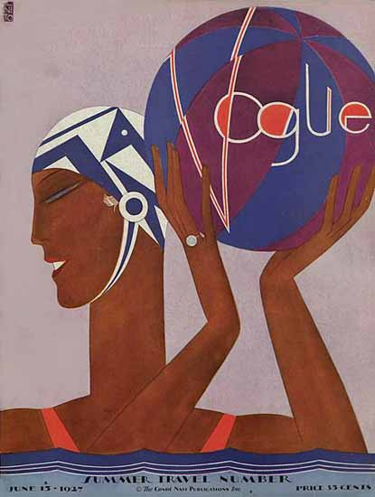 Eduardo Garcia Benito Vogue Cover 1927-06-15 Copyright | Vogue Magazine Graphic Art Covers 1902-1958