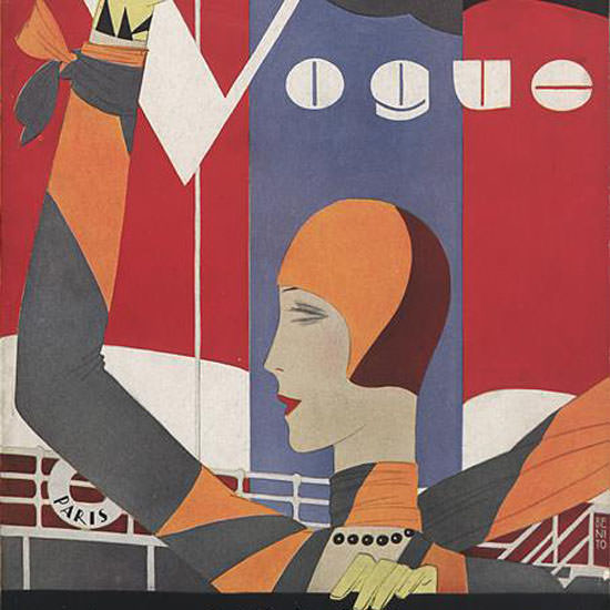 Eduardo Garcia Benito Vogue Cover 1927-10-15 Copyright crop | Best of Vintage Cover Art 1900-1970
